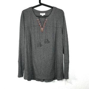 Style & Co Plus Size Waffle Knit Thermal Sweater